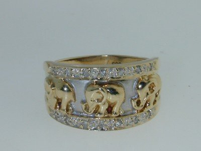 17: 14K Two-tone Gold Diamond Ring.