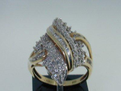 10: 10K Two-tone Gold Diamond Ring.
