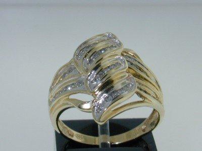 24: 10K Two-tone Gold Diamond Ring.