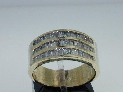 18: 14k Yellow Gold Baguette Diamond Ring!!