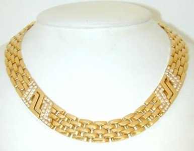 252: Cartier 18K Yellow Gold Diamond Necklace!!!