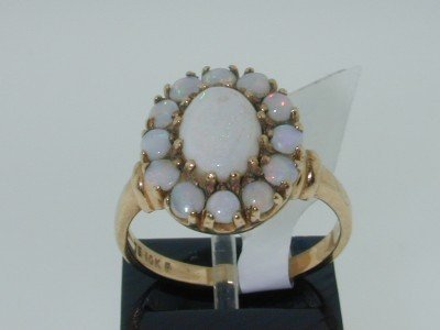 12: 10K Yellow Gold Opal Ring!!!