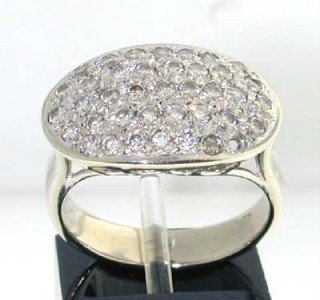 2: 14K White Gold  Diamond Ring