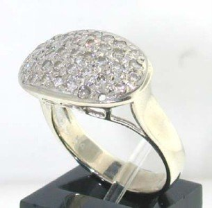 2: 14K White Gold  Diamond Ring - 2