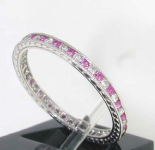4: This is a Platinum Ruby Ring With Diamonds - 2