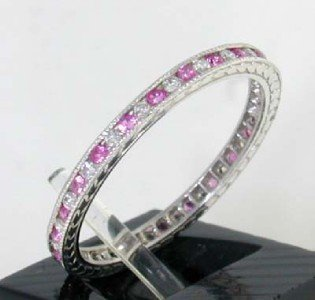 4: This is a Platinum Ruby Ring With Diamonds - 3
