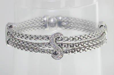 20: Fope 18K White Gold Diamond Bracelet