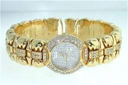 326 Juvenia 18K Yellow Gold Diamond Bangle Watch