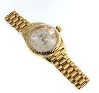 116: Rolex Date Just 18K Yellow Gold  Wrist Watch