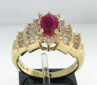 2: 14K Yellow Gold Ruby & Diamond Ring