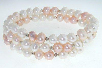 12: Silver & Pearl Bracelet