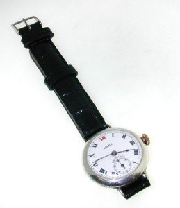 107: Rolex Tropical Stainless Steel Strap Watch
