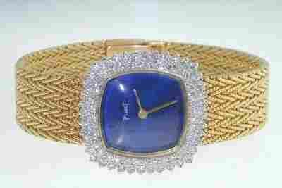 109: Piaget 18K Yellow Gold Diamond Watch.