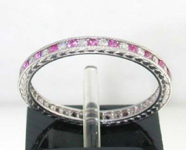4: This is a Platinum Ruby Ring With Diamonds