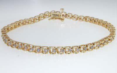145 14k Yellow Gold Diamond Bracelet