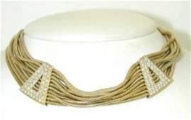 150 Craig Drake 18K Yellow Gold Diamond Necklace