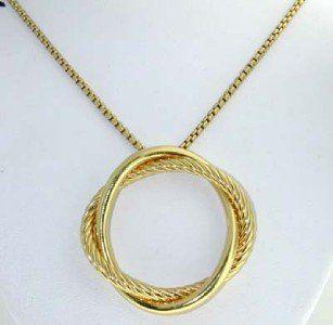 147: David Yurman 18K Yellow Gold Necklace.