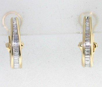 3: 14K Yellow Gold Diamond Earrings