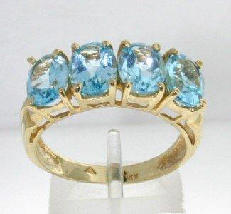 24: 10K Yellow Gold Blue Topaz Ring