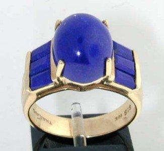2: 10k Yellow Gold Lapis Ring