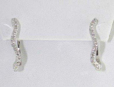5: 14K White Gold Diamond Earrings