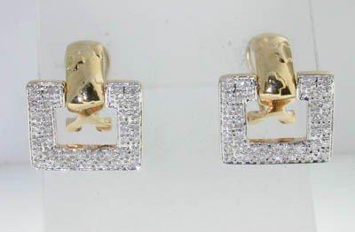 2: 14K Yellow Gold  Diamond  Earrings