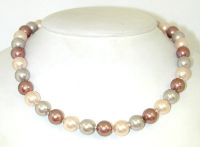 10: Silver Colored Pearl Necklace.
