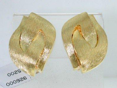 205: Henry Dunay 18K Yellow Gold Earrings