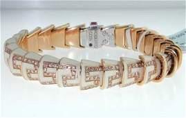 334 Roberto Coin 18K Rose Gold Enamel  Diamond  Brace