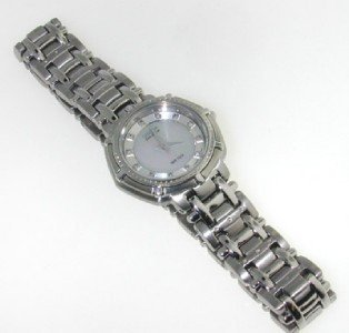 12: Fossil stainless steel watch