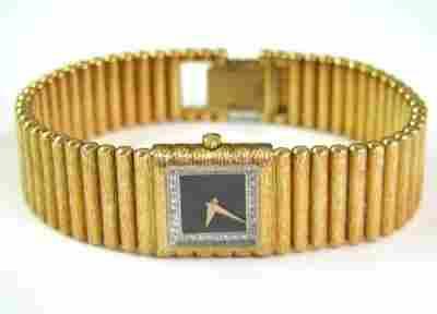 Juvenia 18K Yellow Gold, Diamond Watch.