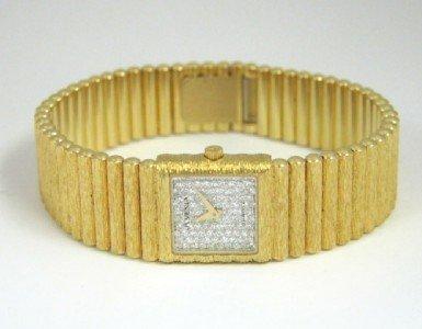 278: Juvenia 18K Yellow Gold, Diamond Watch.