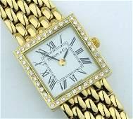 330: Tiffany & Co 14K Yellow Gold, Diamond watch.