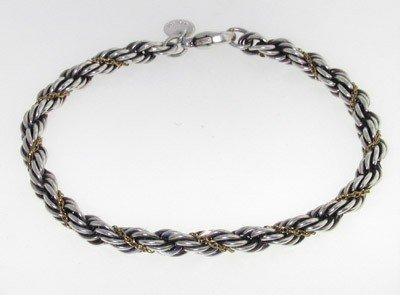 Tiffany & Co 18K Yellow Gold, Silver Bracelet