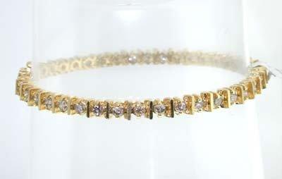 14k Yellow Gold, Diamond Bracelet