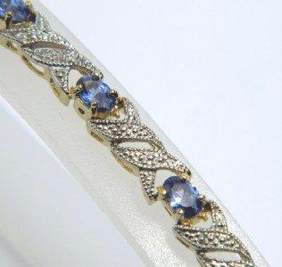 Silver Tanzanite & Diamond Bracelet