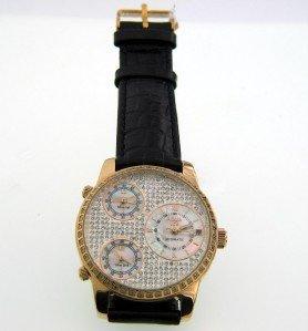 19: Aquaice Diamond Stainless Steel Chronograph Watch