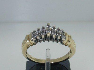 14k 2-toned Gold Diamond Ring