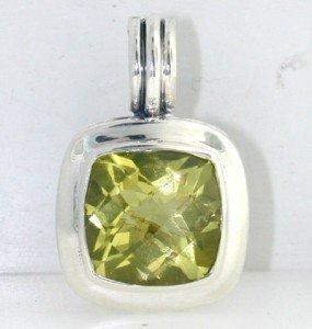 11: David Yurman Silver, Lemon Citrine Pendant