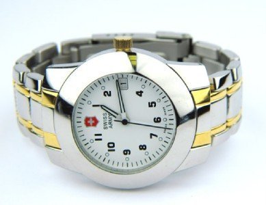15: Swiss Army Stainless Steel Watch.