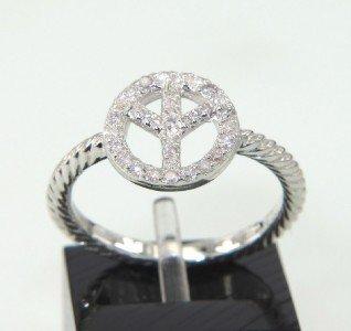 20: David Yurman Silver, Diamond Ring