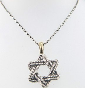 3: David Yurman Silver/18K Yellow Gold Necklace.