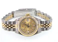 236: Rolex 18K Gold / Stainless Steel Datejust Ladies W