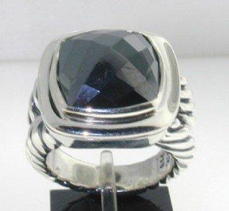 22: David Yurman Silver Hematite Ring.