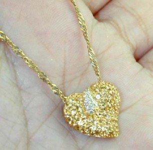19: 18K /14K Yellow Gold Diamond & Yellow Sapphire Neck