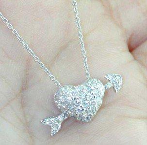 23: Roberto Coin 18K White Gold Diamond Necklace.