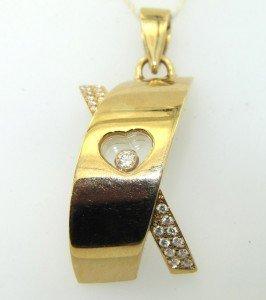 521: Chopard 18K Yellow Gold Diamond Pendant