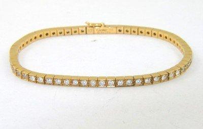 356: Cartier 18K Yellow Gold Diamond Bracelet