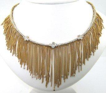 Salavetti 18K Yellow Gold Diamond Necklace