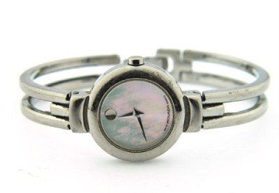 27: Movado Stainless Steel Bangle Watch.